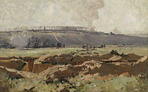Villers Bretonneux, (1918) by Arthur Streeton :: The Collection :: Art Gallery NSW