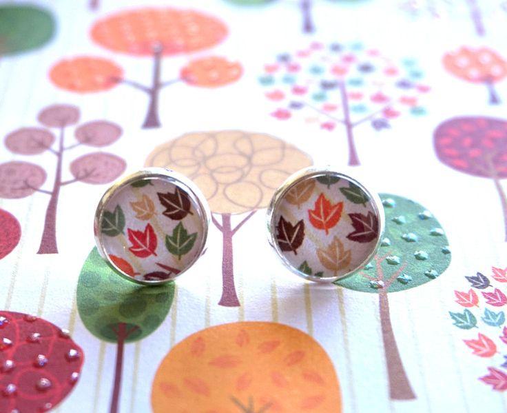 Ohrringe -  Ohrringe/ Ohrstecker Herbstbläter  - ein Designerstück von MIO-O bei DaWanda