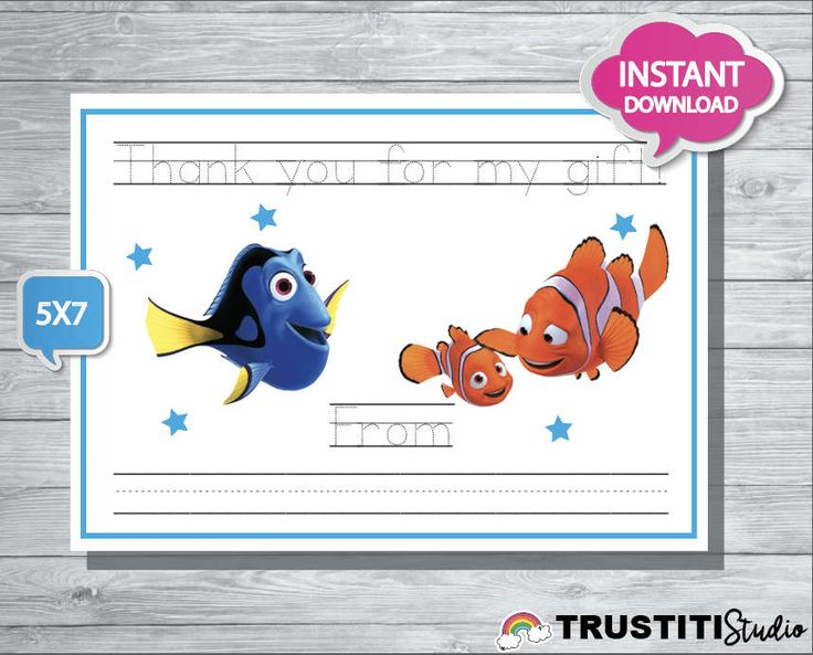 FINDING DORY cards, super cute thank you cards DORY movie by TRUSTITI on Etsy