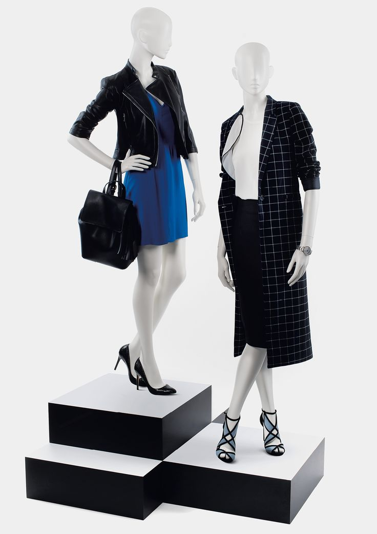 950 SERIES - Semi-abstract female mannequins. #MoreMannequins #WindowDisplay #plynths