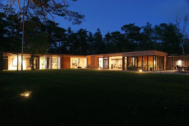 Одноэтажный дом с внутренним двором, Швеция: Самые красивые дома