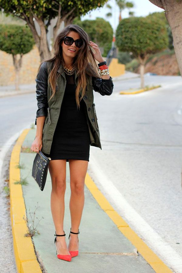 LOVE this jacket with leather sleeves !