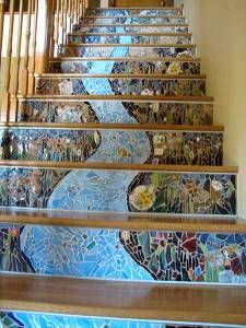 Mosaic stair risers                                                                                                                                                                                 More