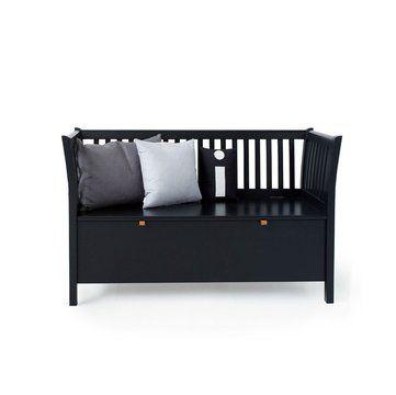 Oliver Furniture Kökssoffa / liten svart slagbänk 131cm