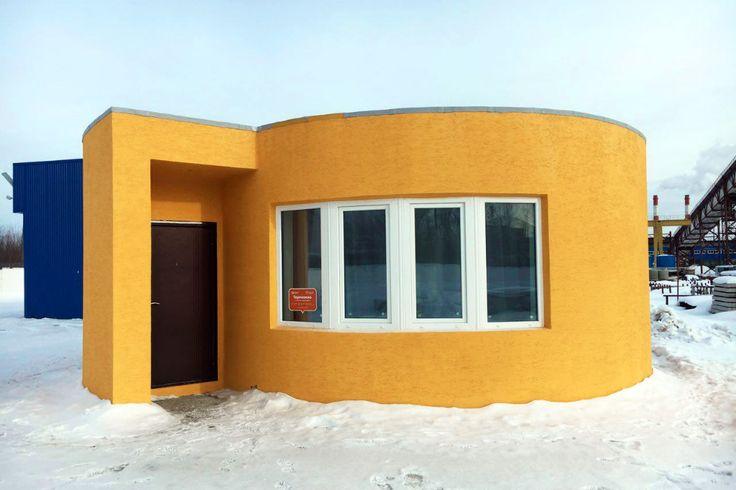 Preparem-se para dizer adeus às betoneiras e retroescavadoras. Nasceu na Rússia, a primeira casa totalmente construída por uma impressora 3D