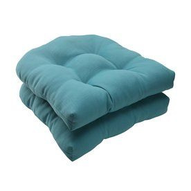 Pillow Perfect Forsyth Turquoise Solid Seat Pad For Universal 507088