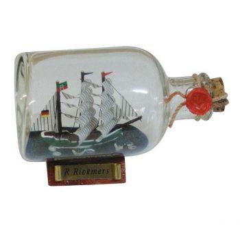 Maritmes Flaschenschiff Rickmer Rickmers als schöne Geschenkidee und für Sammler.   KEINE VERSANDKOSTEN INNERHALB DEUTSCHLANDS!!