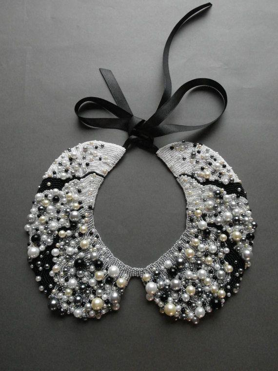 Collar de perlas hechas a mano estilo vintage por ilvakampare, €50.00