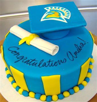 San Jose State University Grad Cake
