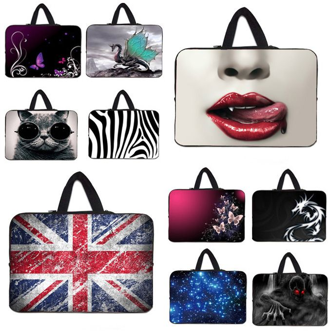 "Notebook Zipper Inner Pouch Cover + Handle Laptop Bags 17.3 17 16.8 Inch Universal 17"" Shockproof Protective Bags For Macbook #17.3 Laptop Bag"