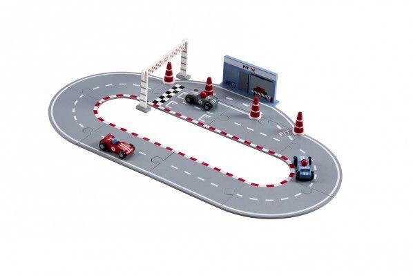 Racerbilbana med bilar