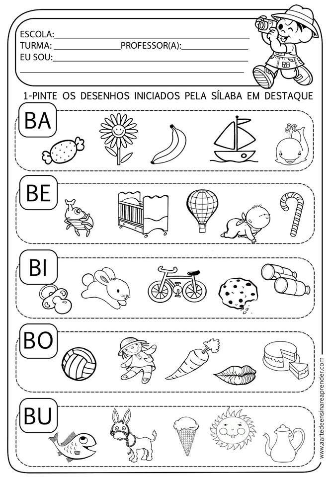 Nesta postagem trago para vocês 24 páginas de atividades variadas prontas para imprimir para alfabetização.