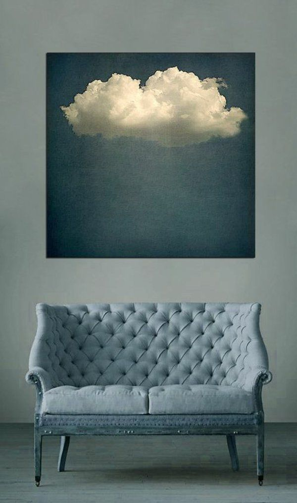 Wandfarbe Wände Gestalten Couch Wolke Gemälde