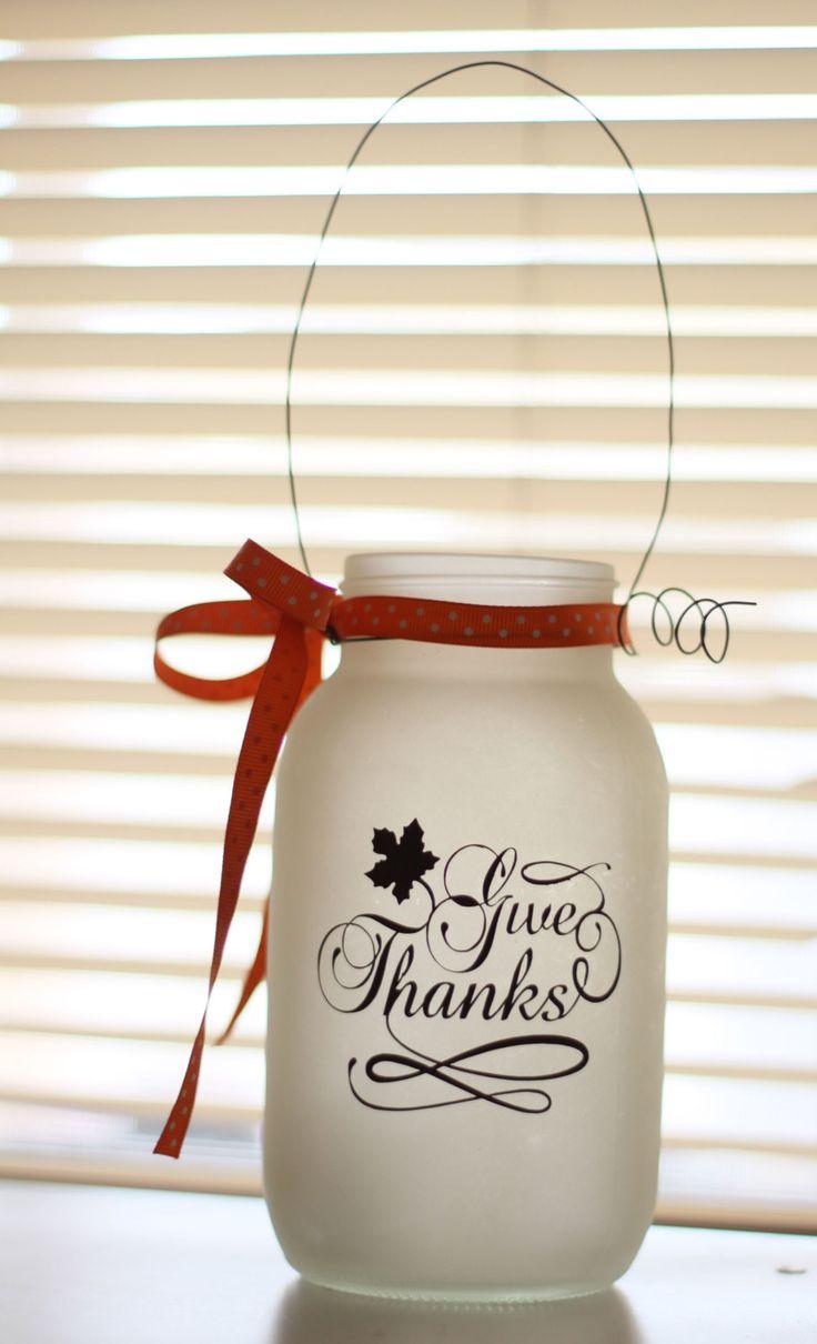 Frosted Holiday Mason Jars Halloween Mason Jars by SimplebyBrooke, $9.99