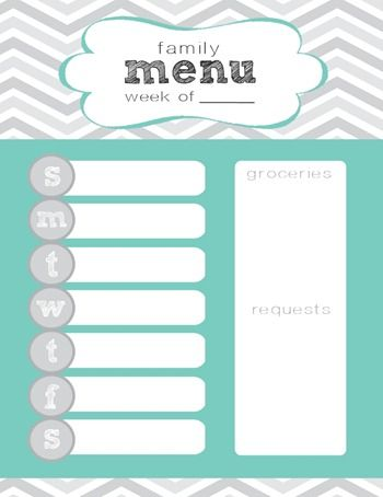 Best 25+ Weekly menu printable ideas on Pinterest Weekly meal - free menu planner template