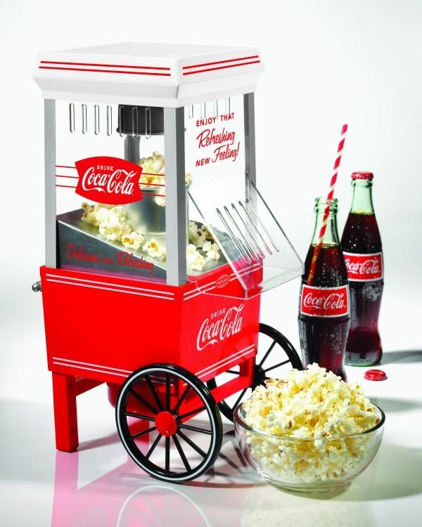 Old Fashioned Hot Air Popcorn Maker - Coke