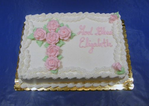 Baptism Full Sheet Cakes for Boys | Herman's Bakery and Deli - Christening Decorated Cake Galley
