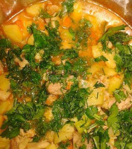 тушеное мясо с овощами