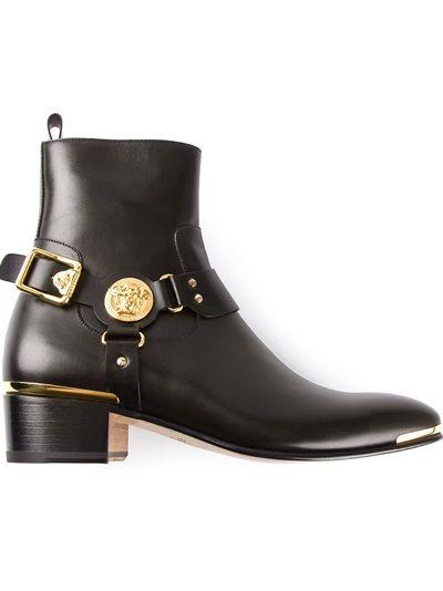 versace medusa western boots s high fashion