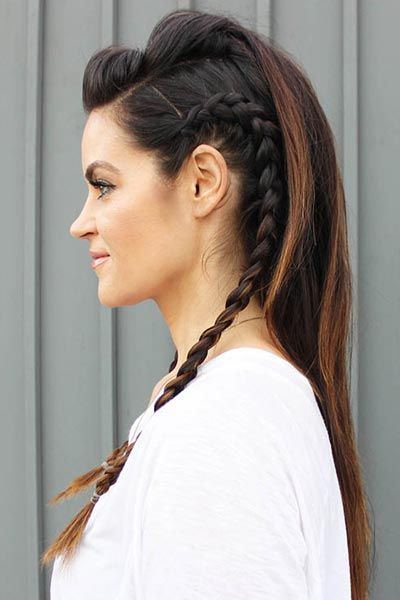For the bride with a little rocker edge, this faux hawk is actually much easier to do than it looks.