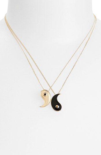 Topshop Yin Yang Necklaces (Set of 2) | Nordstrom