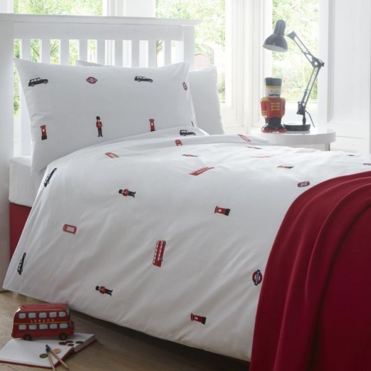 are you interested in our london embroidered duvet cover with our london childrens bed linen bedding you need look no further