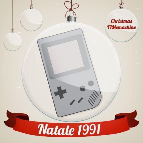 Una delle prime console portatili. Oggi la #ChristmasTIMemachine ci porta indietro nel 1991 con il #GameBoy della Nintendo! #Natale2013 #TIM #gift #idea #regali #Natale