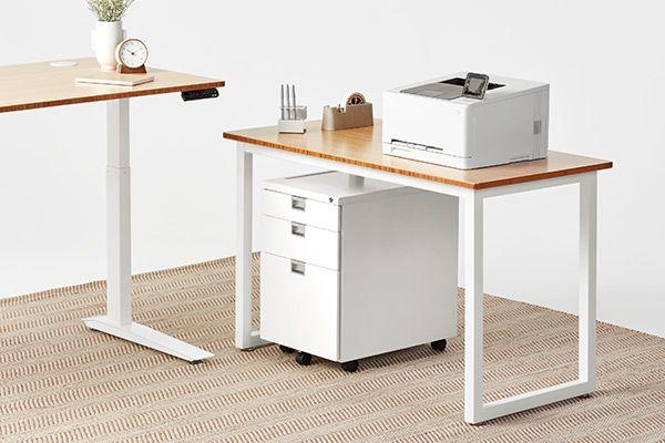 Jarvis L Shaped Standing Desk Adjustable Height Desk Standing Desk Office Desk
