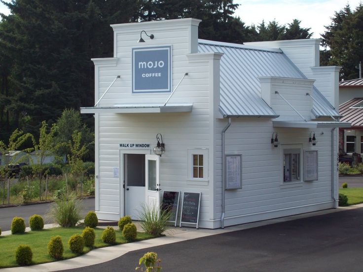 liked this cute little drive-through coffee shop with a walk up ...