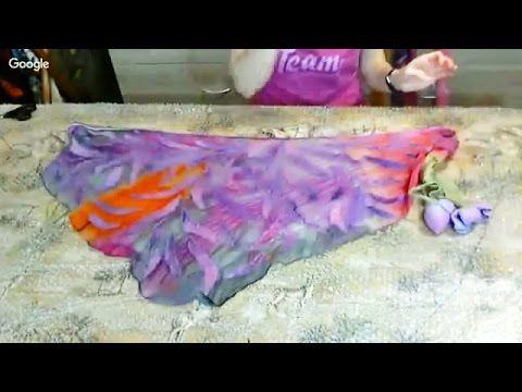 Валяние ✿ Бактус - нунофелтинг с валяными цветами ✿ МК Ирины Пановой - YouTube