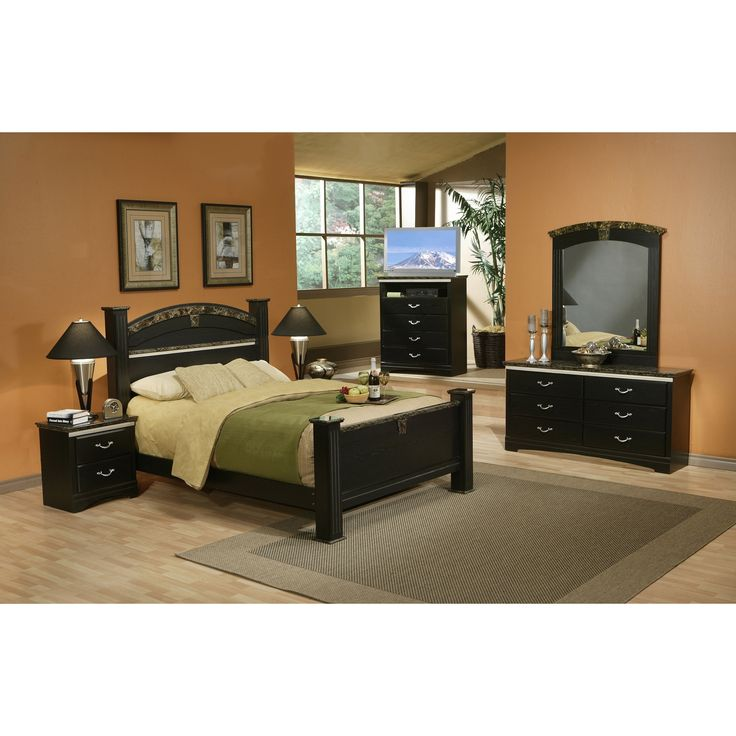 Sandberg Furniture La Jolla Morena Black Estate Bed   Overstock Shopping    Great Deals On Sandberg