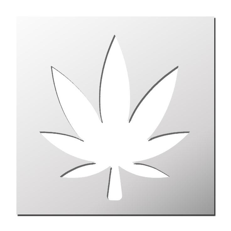 Pochoir Feuille de cannabis