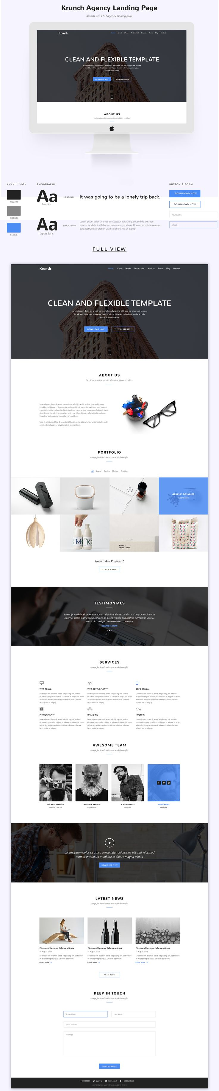 Simple Agency Landing Page Design Concept