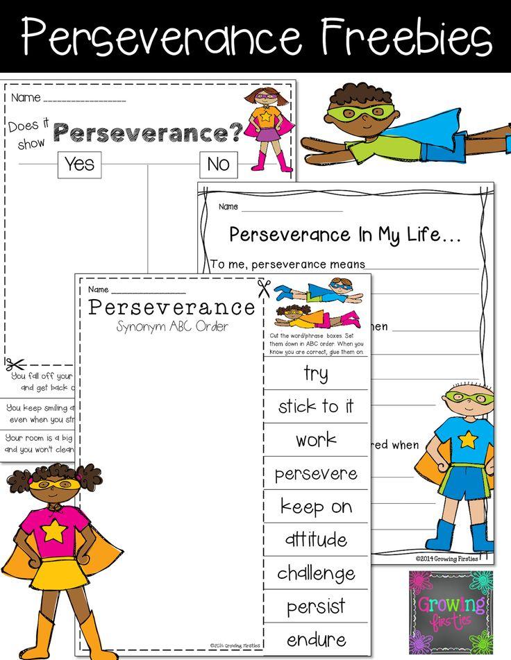 Perseverance Printables Freebies