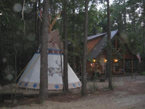 Dancing Rabbit Cabin In Southeast Oklahoma Offers A Two Bedroom Luxury Cabin,  And Teepee. | Places To Stay In Oklahoma | Pinterest | Cabin, Vacation And  ...