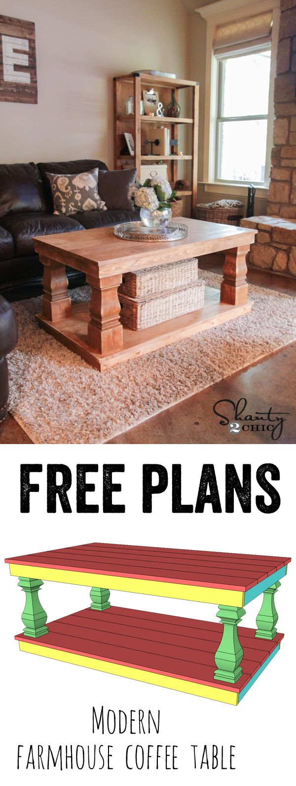 Pallet Coffee Table Plans and More for Free. Visit Now and get your DIY On!