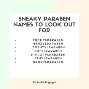 Sneaky names for parabens