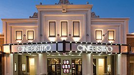 """Can you say """"date night honey""""? Eat a delicious meal while watching a movie! Love it! In Hyde park area of Tampa."""