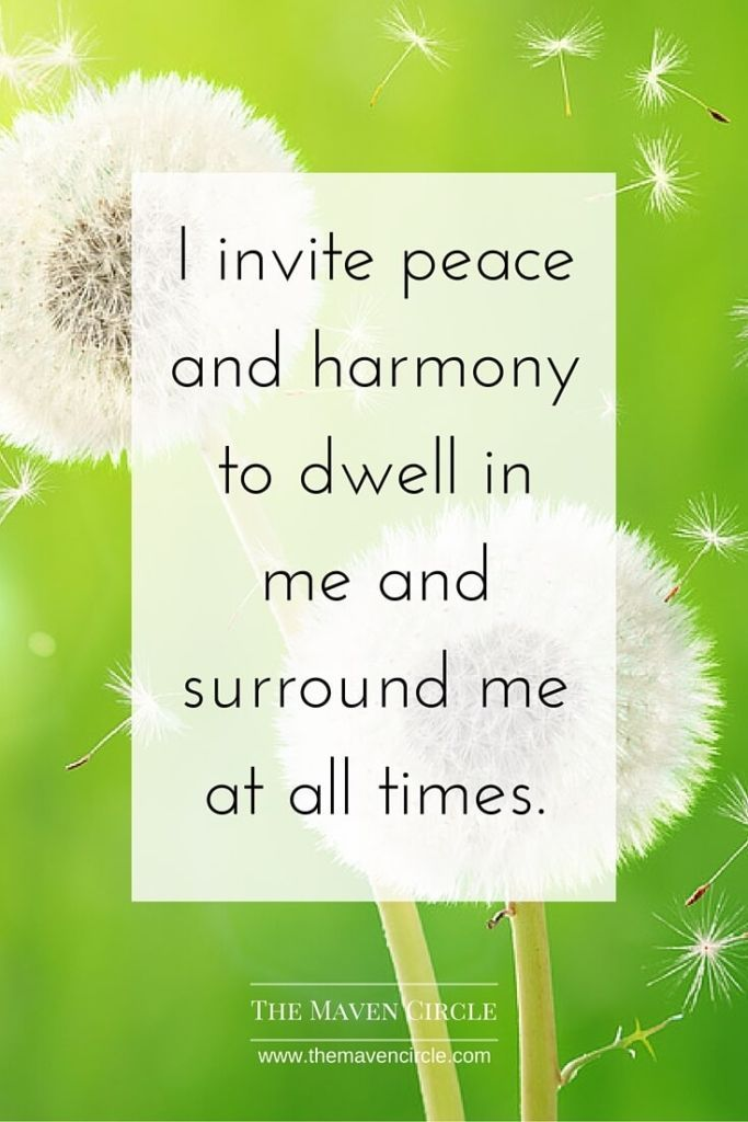 I dwell in peace.