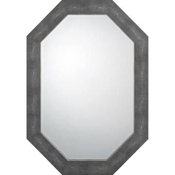 The Mine Couture Turley Mirror, Black | Wall Mirrors | 12903452