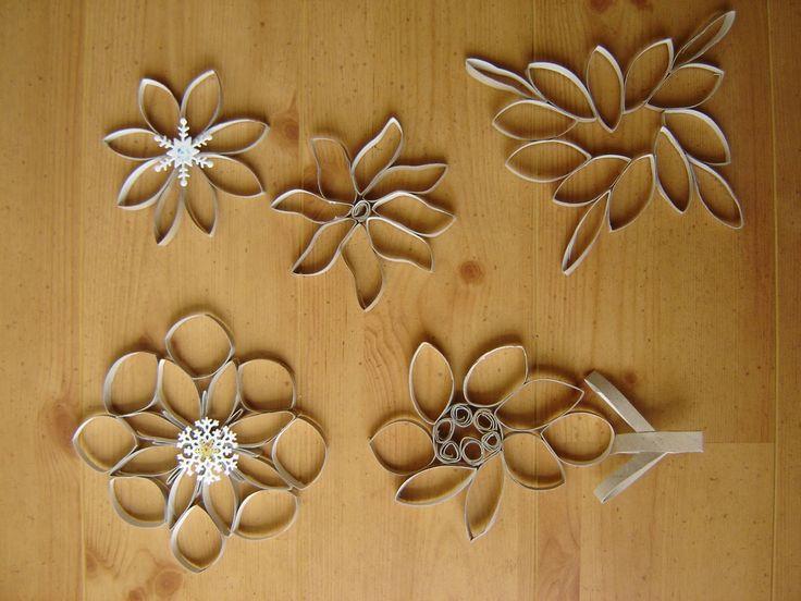 Flores de papel en rollo 3