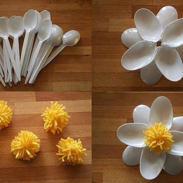 plastic spoon art recycle me please pinterest