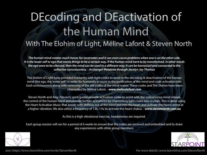 DEcoding & DEactivation of the Human Mind with The Elohim, Meline Lafont & Steven North | Learn It Live
