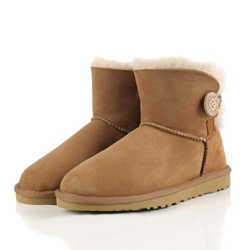 Cheap UGG Boots Mini Bailey Button 3352 Chestnut Outlet Online Sale Black Friday and Cyber Monday