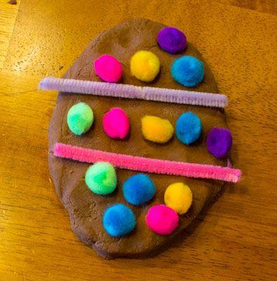 Easter Egg Chocolate Play Dough Activity - Love, Play, Learn