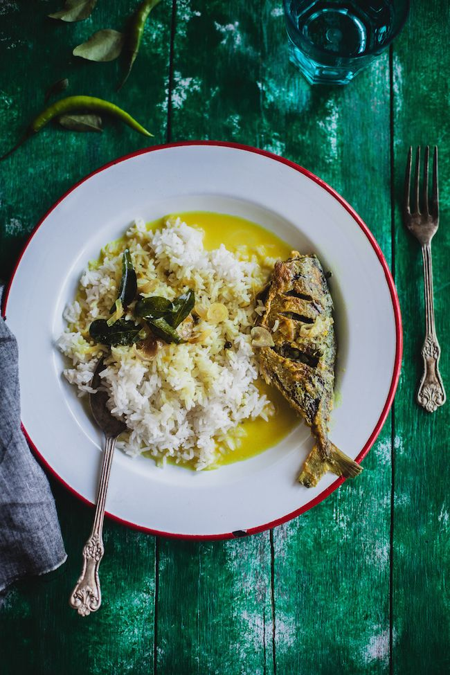 Mackerel with fresh peppercorn and coconut milk