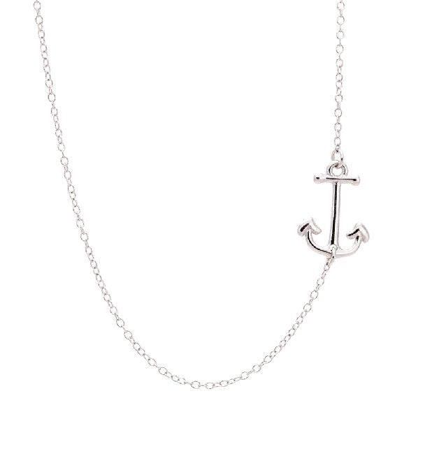 For the sailor in us...delicate side Anchor necklace