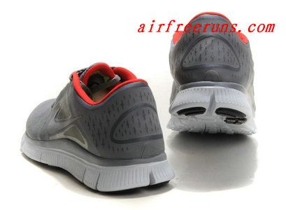 Nike Free Run +3 Mens Womens Grey Refelct Silver Red #fashion