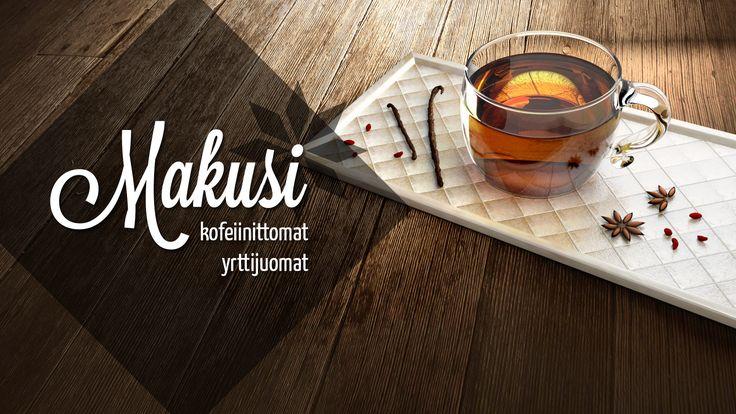 Fictional herbal drink advertisement. Made with Blender 3D. © Johanna Pakkala. – 3D modeling