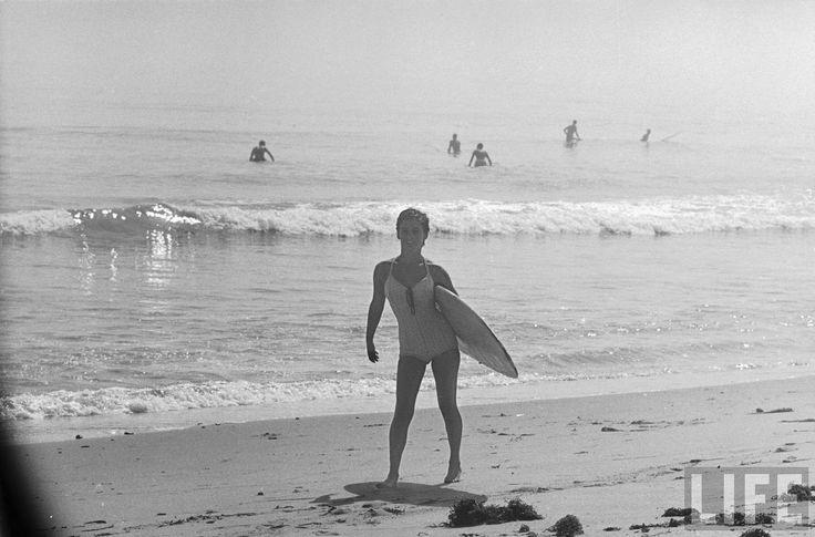 Beach Surf babe Kathy Kohner aka Gidget at Malibu.